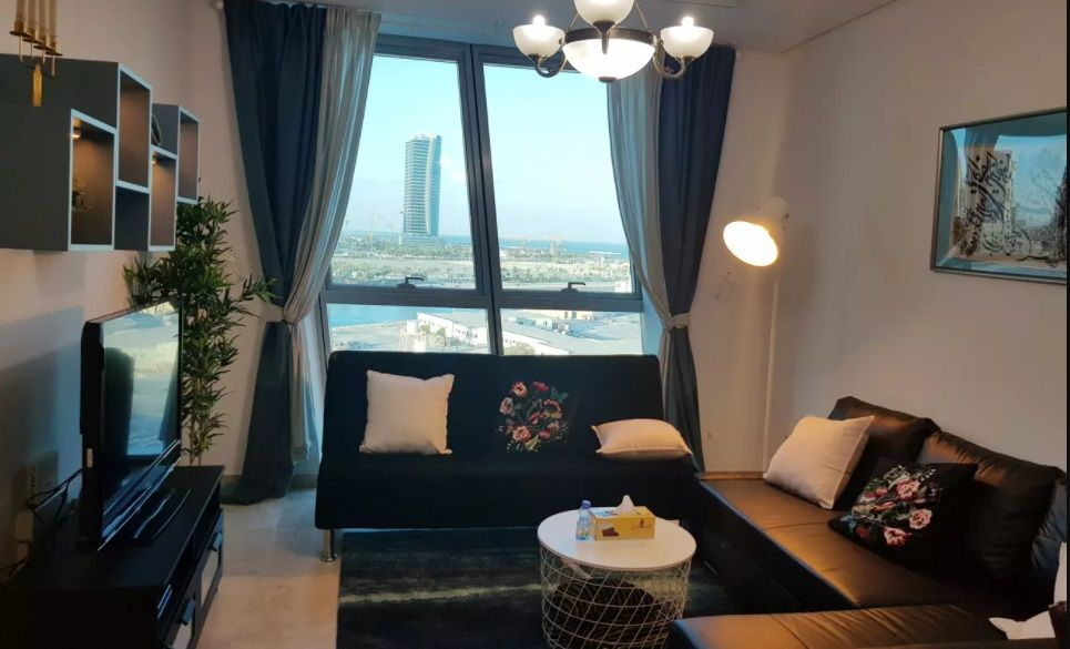 Residential Property 2 Bedrooms F/F Apartment  for rent in Zigzag-Towers , Doha-Qatar #11436 - 1  image