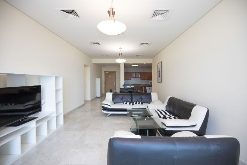 Residential Property 2 Bedrooms F/F Apartment  for rent in Zigzag-Towers , Doha-Qatar #11460 - 1  image
