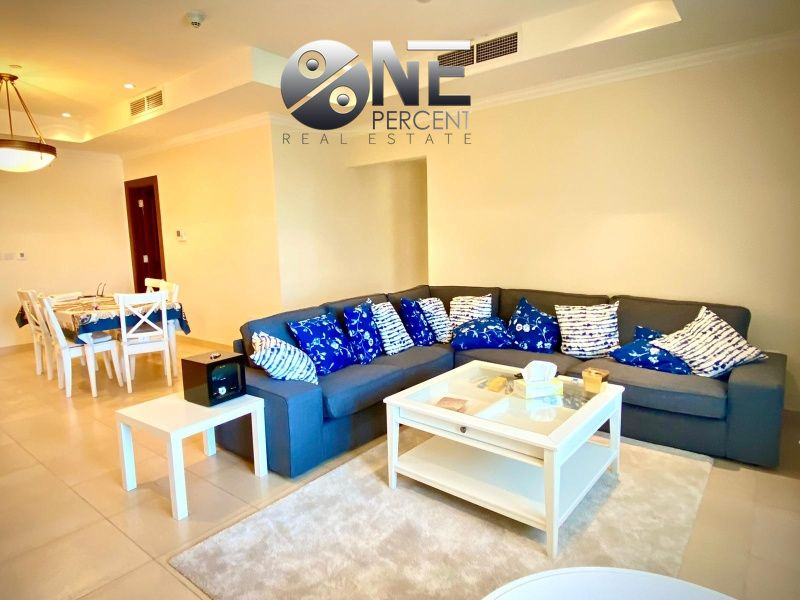 Residential Property 2 Bedrooms F/F Apartment  for rent in The-Pearl-Qatar , Doha-Qatar #11503 - 1  image