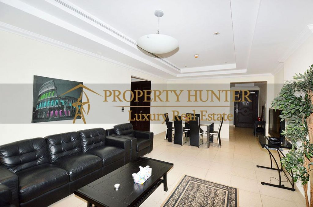 Residential Developed 1 Bedroom S/F Apartment  for sale in The-Pearl-Qatar , Doha-Qatar #6902 - 4  image