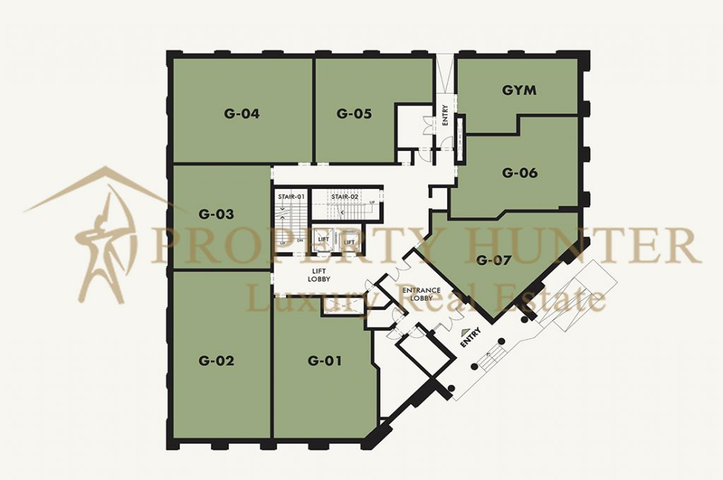 Residential Off Plan 1 Bedroom S/F Apartment  for sale in Lusail , Doha-Qatar #6907 - 5  image