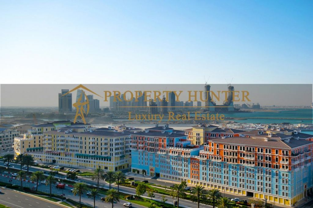 Residential Developed 1 Bedroom S/F Apartment  for sale in The-Pearl-Qatar , Doha-Qatar #6942 - 1  image
