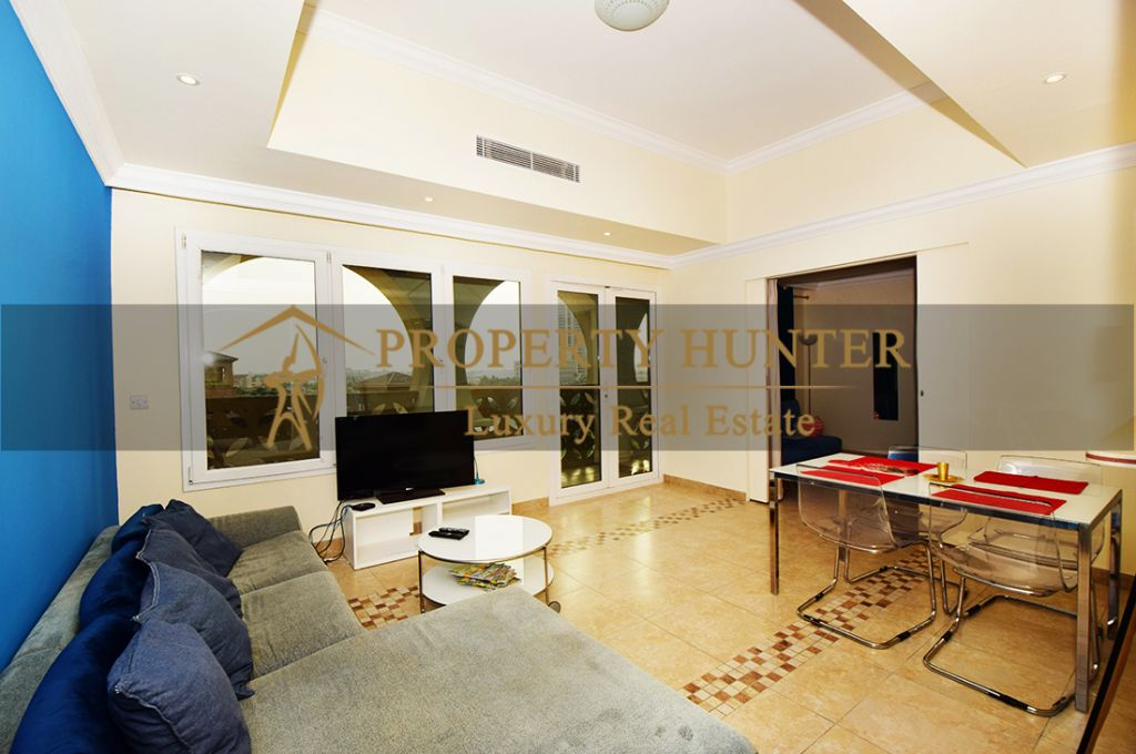 Residential Developed 1 Bedroom S/F Apartment  for sale in The-Pearl-Qatar , Doha #6963 - 4  image