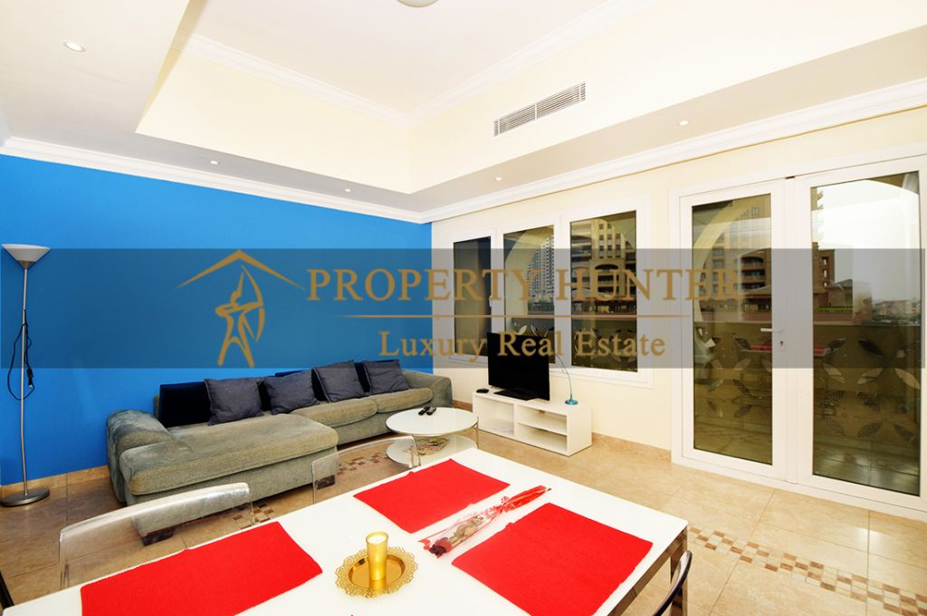 Residential Developed 1 Bedroom S/F Apartment  for sale in The-Pearl-Qatar , Doha #6963 - 5  image
