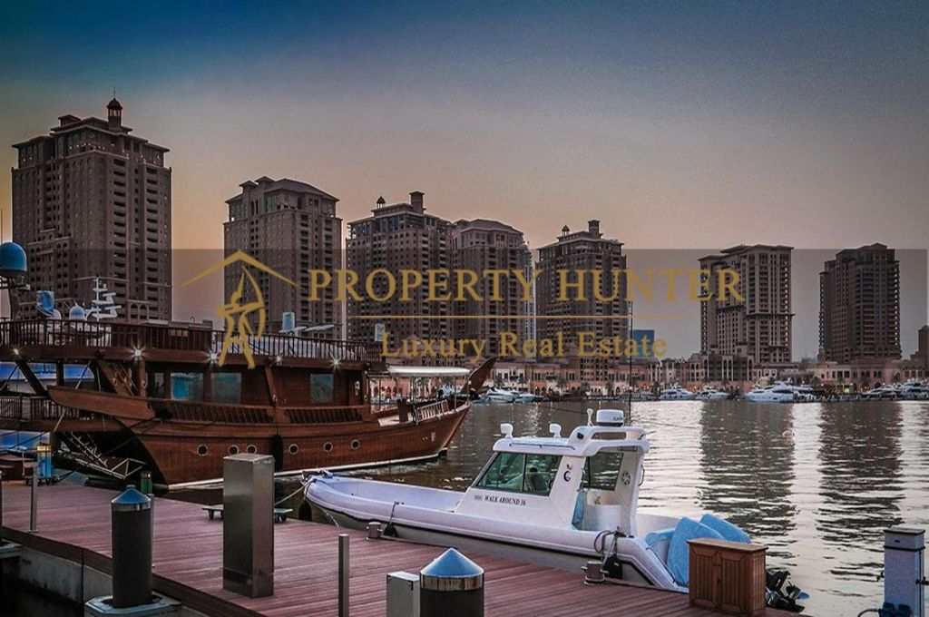 Residential Developed 1 Bedroom S/F Apartment  for sale in The-Pearl-Qatar , Doha #6964 - 1  image
