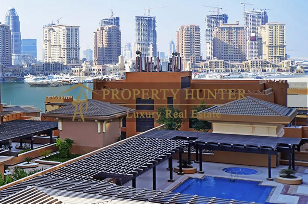 Residential Developed 1 Bedroom S/F Apartment  for sale in The-Pearl-Qatar , Doha-Qatar #6965 - 1  image
