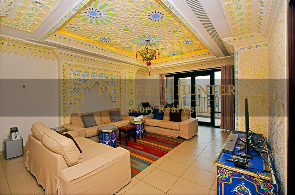 Residential Developed 1 Bedroom S/F Apartment  for sale in The-Pearl-Qatar , Doha #6988 - 4  image