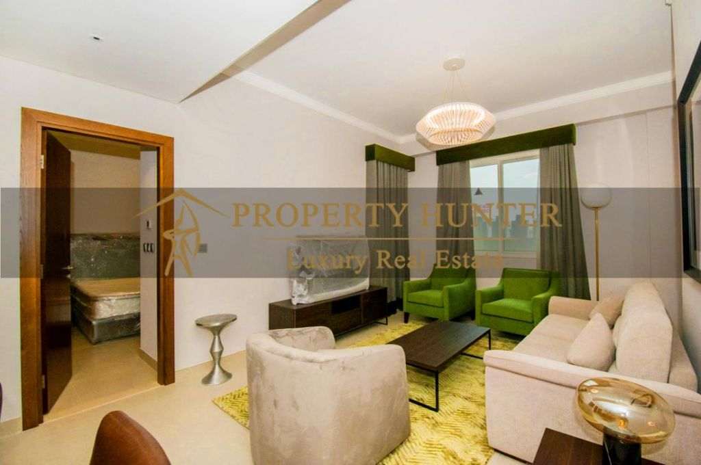 Residential Developed 1 Bedroom S/F Apartment  for sale in The-Pearl-Qatar , Doha-Qatar #7007 - 2  image