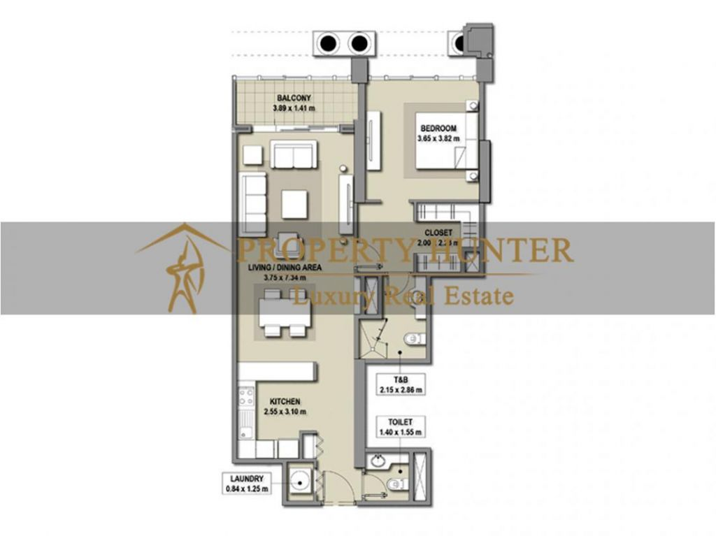 Residential Developed 1 Bedroom S/F Apartment  for sale in The-Pearl-Qatar , Doha-Qatar #7007 - 10  image