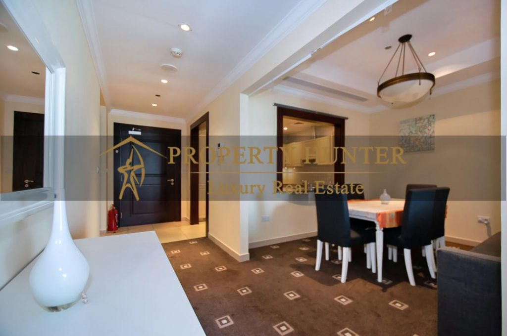 Residential Developed 1 Bedroom S/F Apartment  for sale in The-Pearl-Qatar , Doha-Qatar #7013 - 2  image