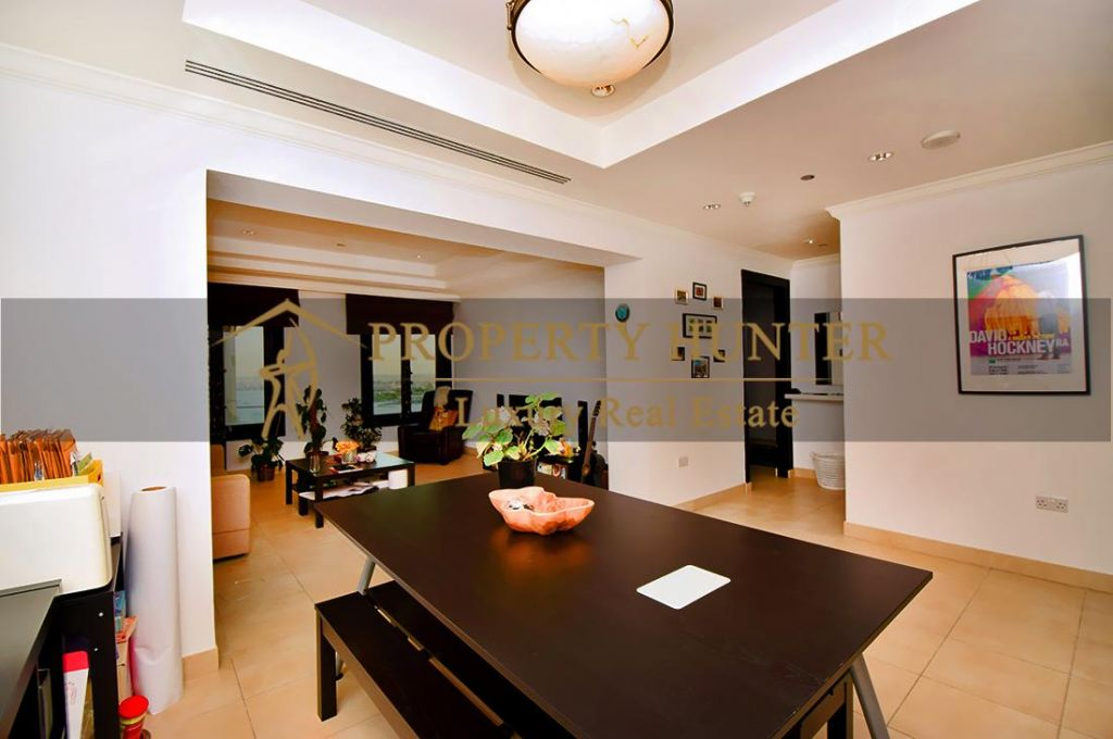 Residential Developed 1 Bedroom S/F Apartment  for sale in The-Pearl-Qatar , Doha-Qatar #7045 - 4  image