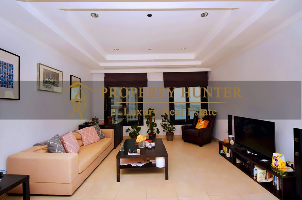Residential Developed 1 Bedroom S/F Apartment  for sale in The-Pearl-Qatar , Doha-Qatar #7045 - 3  image