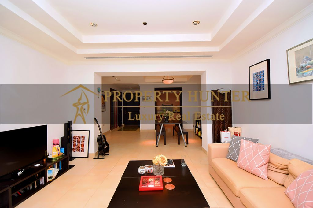 Residential Developed 1 Bedroom S/F Apartment  for sale in The-Pearl-Qatar , Doha-Qatar #7045 - 5  image