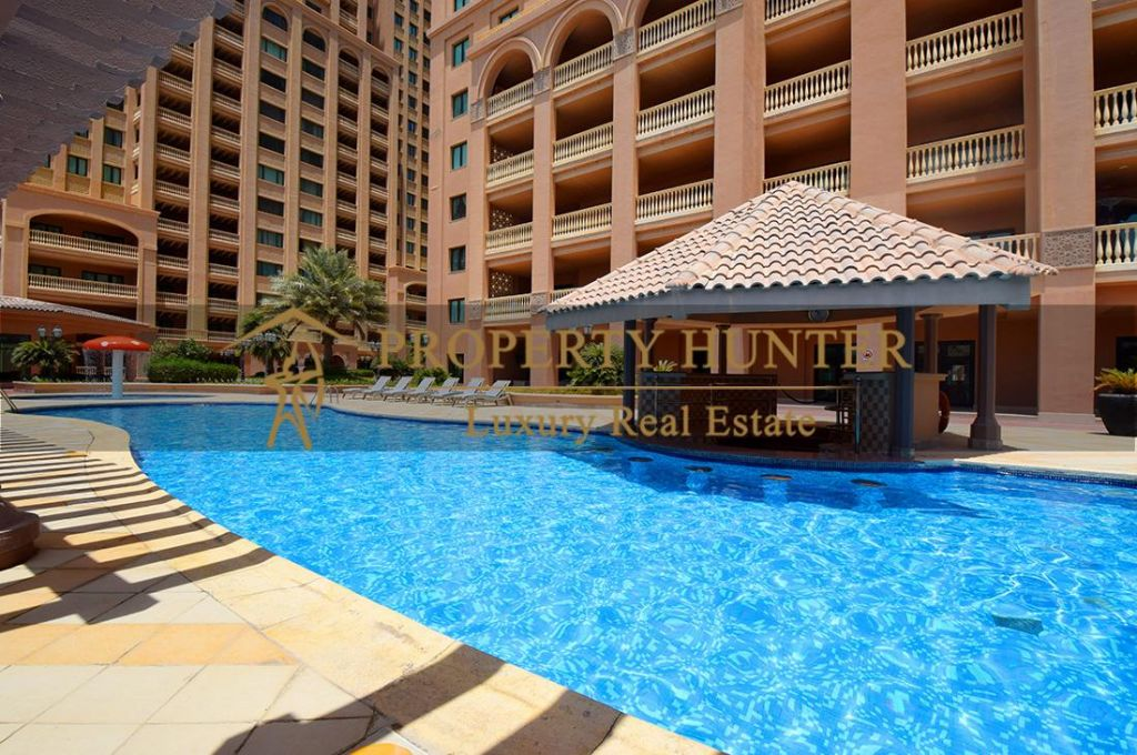 Residential Developed 1 Bedroom S/F Apartment  for sale in The-Pearl-Qatar , Doha-Qatar #7063 - 10  image