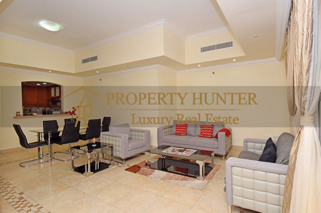 Residential Developed 1 Bedroom S/F Apartment  for sale in The-Pearl-Qatar , Doha-Qatar #7063 - 3  image