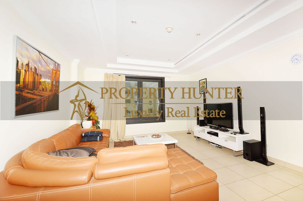Residential Developed 1 Bedroom S/F Apartment  for sale in The-Pearl-Qatar , Doha-Qatar #8074 - 2  image