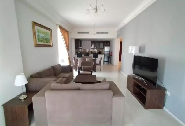Residential Property 3 Bedrooms F/F Apartment  for rent in The-Pearl-Qatar , Doha-Qatar #8323 - 1  image
